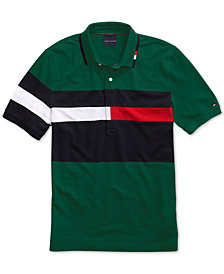 Tommy Hilfiger Adaptive Men's Rich Polo Shirt  with Magnetic Buttons