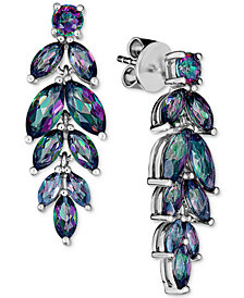 Mystic Quartz Drop Earrings (4 ct. t.w.) in Sterling Silver