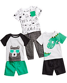First Impressions Baby Boys Graphic-Print T-Shirts, Jogger Pants & Woven Shorts, Created for Macy's