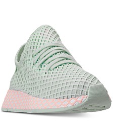 adidas Girls' Deerupt Runner Casual Sneakers from Finish Line