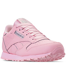 Reebok Girls' Classic Leather Casual Sneakers from Finish Line