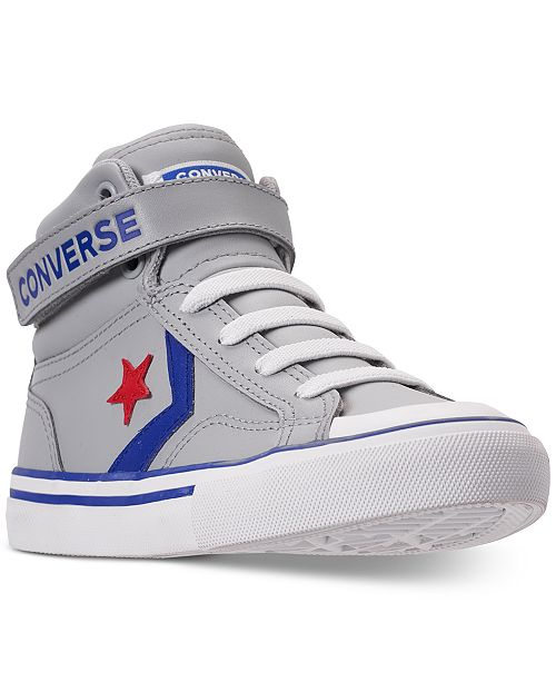 1848bd49f465 ... Converse Little Boys  CONS Pro-Blaze Leather High-Top Casual Sneakers  from Finish ...