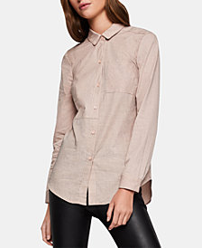 BCBGeneration Cotton Button-Front Shirt