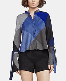 BCBGMAXAZRIA Cotton Bell-Sleeve Shirt