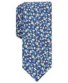Bar III Men's Vine Floral Skinny Tie, Created for Macy's