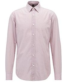 BOSS Men's Regular/Classic-Fit Cotton Voile Shirt