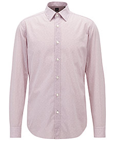 BOSS Men's Regular/Classic-Fit Cotton Voile Shirt