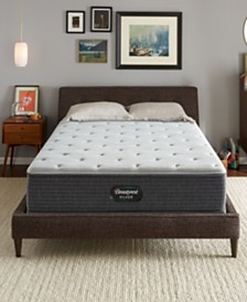 "Beautyrest Silver BRS900-TSS 12"" Medium Firm Mattress Set - Queen Split, Created For Macy's"