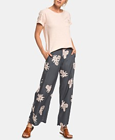 Roxy Juniors' Midnight Avenue Floral-Print Soft Pants
