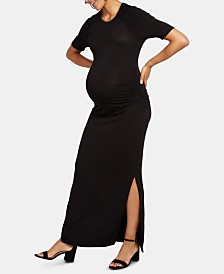Motherhood Maternity Ruched Maxi Dress
