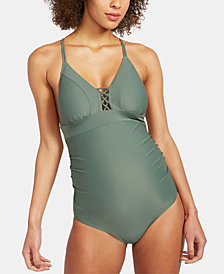 A Pea In The Pod Maternity Printed One-Piece Swimsuit