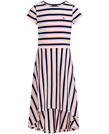 Tommy Hilfiger Big Girls Striped High-Low Hem Dress