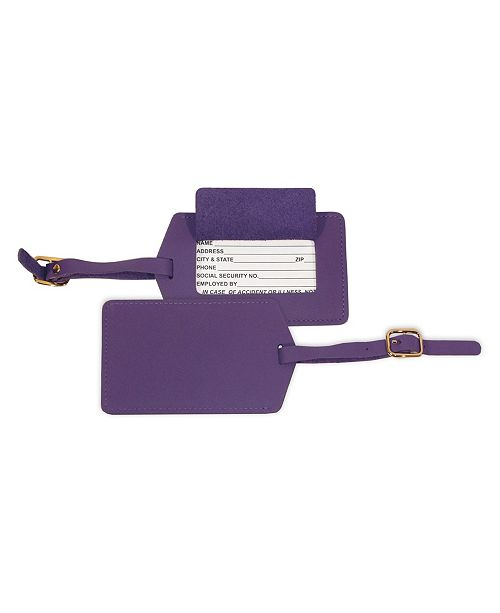 Royce Leather Royce New York Luggage Tag with Privacy Flap