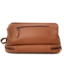 Royce New York Toiletry Bag with Zippered Bottom Compartment