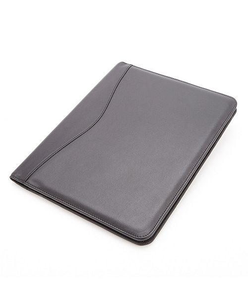 Royce Leather Royce New York Suede Lined Executive Writing Portfolio