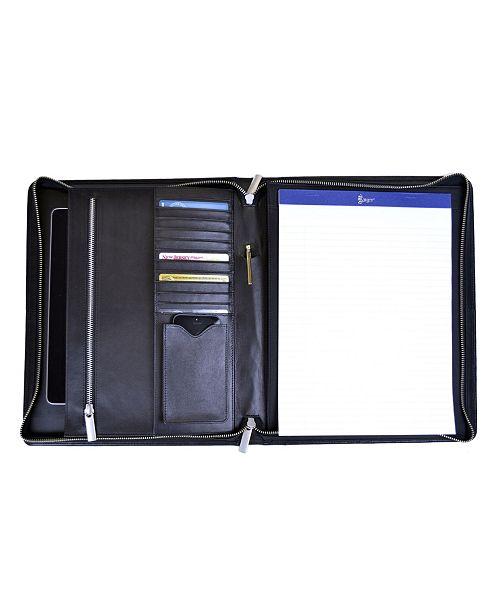 EMPORIUM LEATHER CO/ROYCE LEATHER Royce New York Zippered Document Portfolio Brief