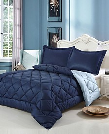 Swiss Comforts Down Alternative Reversible King Comforter Set
