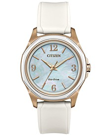 Drive from Citizen Eco-Drive Women's White Silicone Strap Watch 35mm