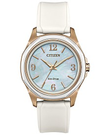 Citizen Drive from Citizen Eco-Drive Women's White Silicone Strap Watch 35mm