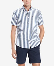 5539b0b0 Tommy Hilfiger Men's Custom-Fit Nico Vertical Stripe Shirt, Created for  Macy's