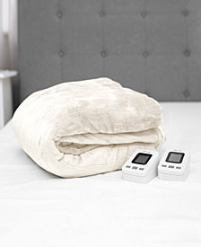 SensorPEDIC  Queen Warming Blanket with Two Digital Controllers