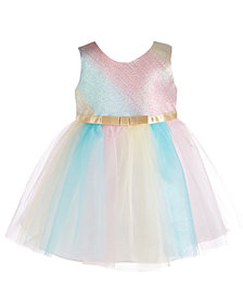 Bonnie Baby Baby Girls Multicolor Ballerina Dress