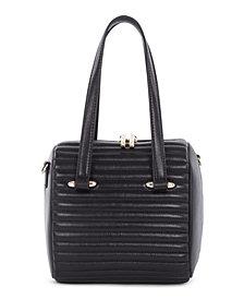 Céline Dion Collection Chain Link Satchel Leather Vibrato Satchel