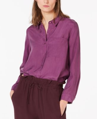Silk High-Low Blouse