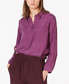 Eileen Fisher Silk High-Low Blouse