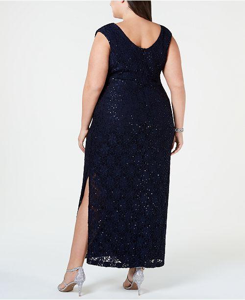 31d4a7ac13d Connected Plus Size Glitter Lace Sheath Dress   Reviews - Dresses ...