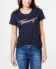 Tommy Hilfiger Logo Script Cotton T-Shirt