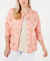 Karen Scott Plus Size Springtime Posy Cardigan dbe2eb59e