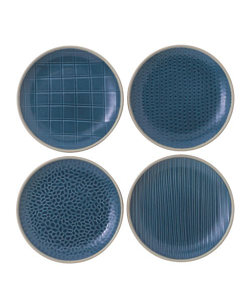 Gordon Ramsay Royal Doulton Exclusively for Maze Grill Mixed Blue Plates, Set of 4