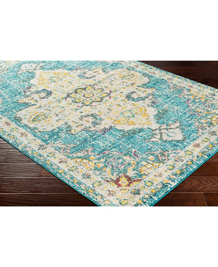 """Abbie & Allie Rugs - Morocco MRC-2310 Teal 18"""" Square Swatch"""