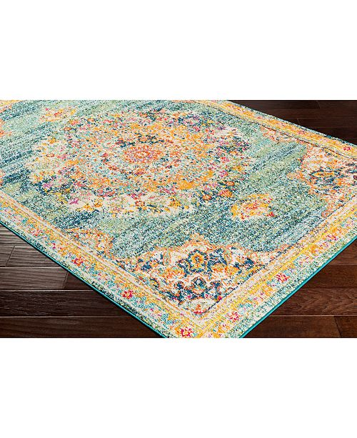 "Surya Morocco MRC-2320 Teal 18"" Square Swatch"