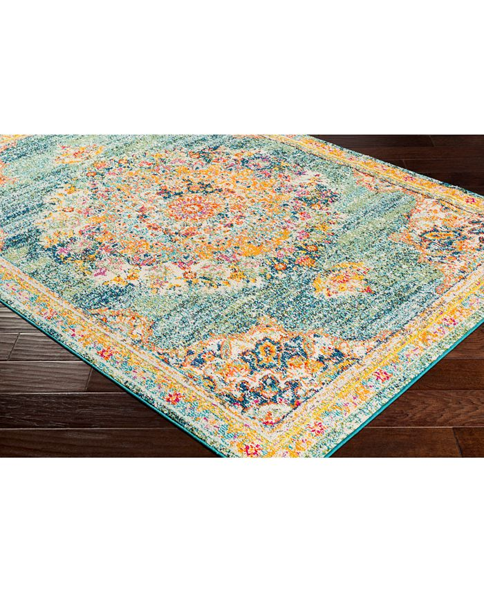 """Abbie & Allie Rugs - Morocco MRC-2320 Teal 18"""" Square Swatch"""