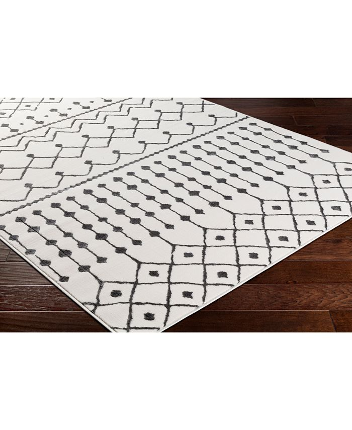 """Abbie & Allie Rugs - Rabat RBT-2300 Charcoal 18"""" Square Swatch"""