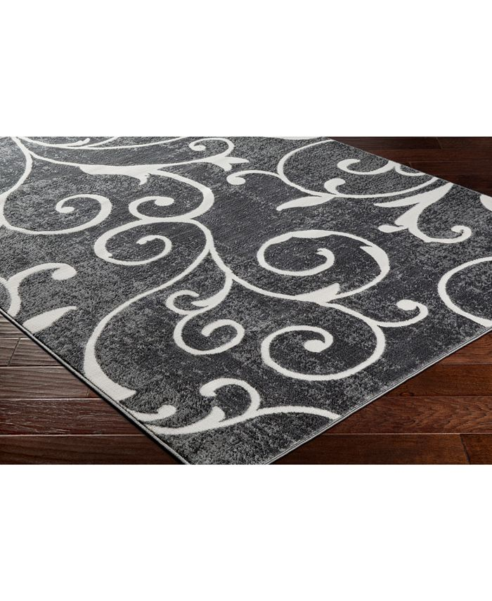 """Abbie & Allie Rugs - Rabat RBT-2304 Charcoal 18"""" Square Swatch"""