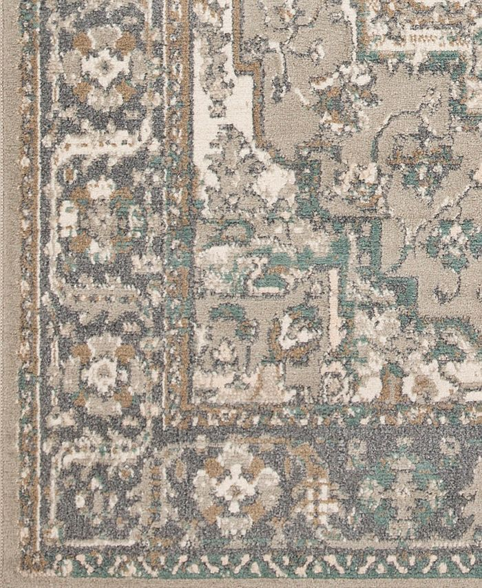 """Abbie & Allie Rugs - Oslo OSL-2301 Charcoal 18"""" Square Swatch"""