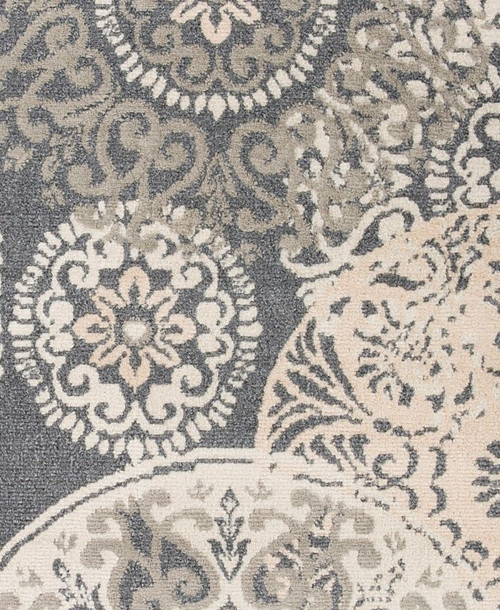 """Abbie & Allie Rugs - Oslo OSL-2314 Charcoal 18"""" Square Swatch"""