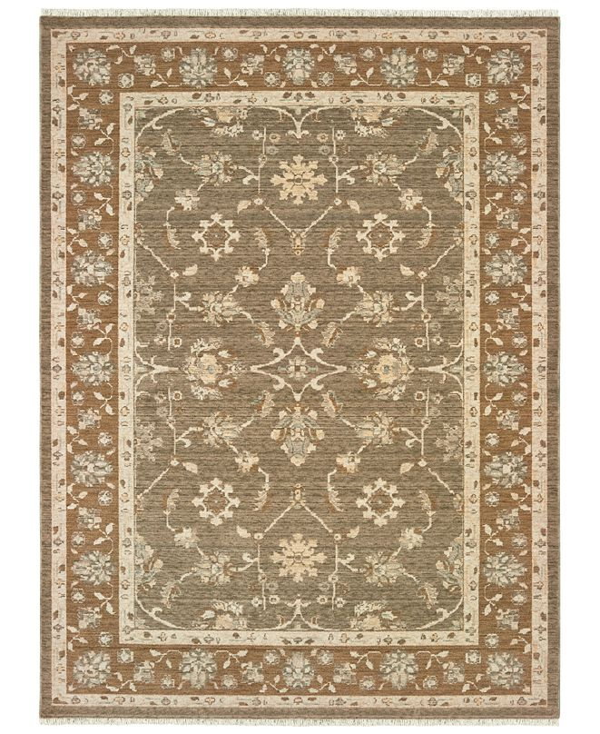 "Oriental Weavers Anatolia 561W3 Grey/Gold 2'3"" x 10' Runner Area Rug"
