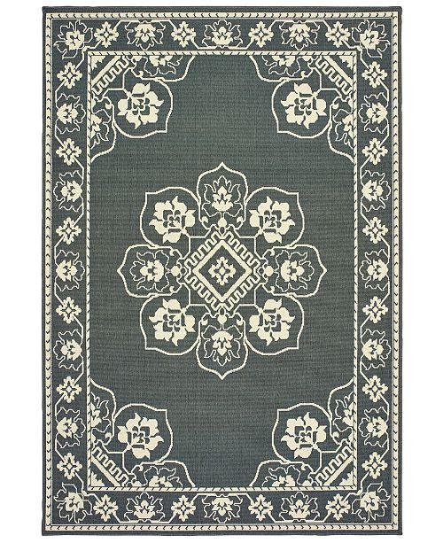 """Oriental Weavers Marina 7764 6'7"""" x 9'6"""" Indoor/Outdoor Area Rug"""