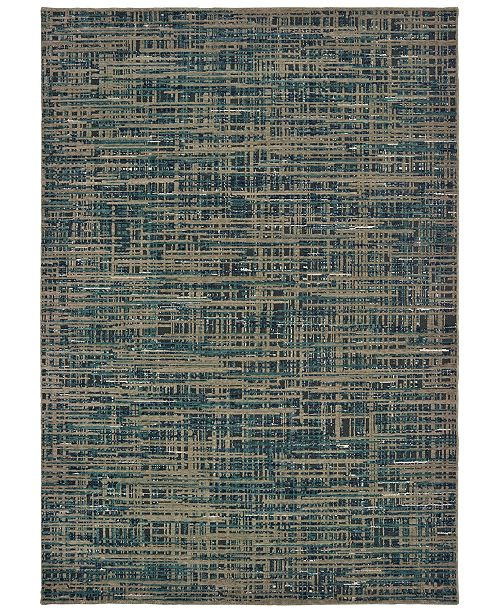 "Oriental Weavers Montage 5503D Blue/Gray 9'10"" x 12'10"" Area Rug"