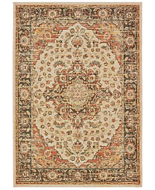 "Oriental Weavers Toscana 9551A Ivory/Orange 3'10"" x 5'5"" Area Rug"