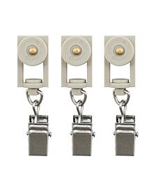 Beme International erod Roller Clip Rings, Set of 14, Nickel