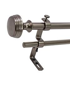 Montevilla  5/8-Inch  Knob Double Telescoping Curtain Rod Set, 48 to 86-Inch, Hematite
