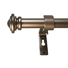 3/4-Inch Cap Telescoping Curtain Rod Set, 72 to 144-Inch, Bronze