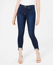 7 For All Mankind Wave-Hem Skinny Jeans