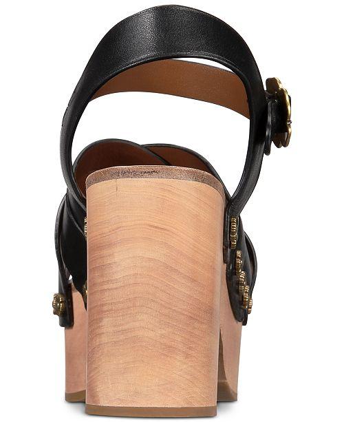 340d53363b COACH Nessa Clog Sandals & Reviews - Sandals & Flip Flops - Shoes ...