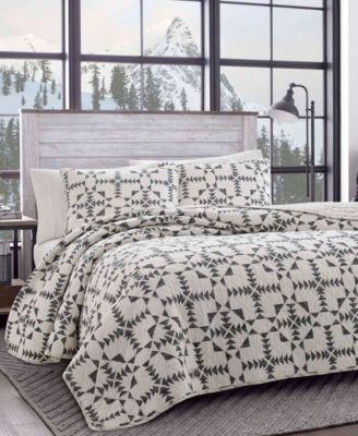 Arrowhead Charcoal Quilt Set, Twin